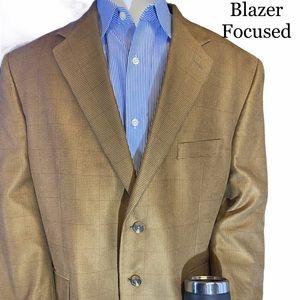 Chaps Tan 2 Button Blazer Single Vent 44S